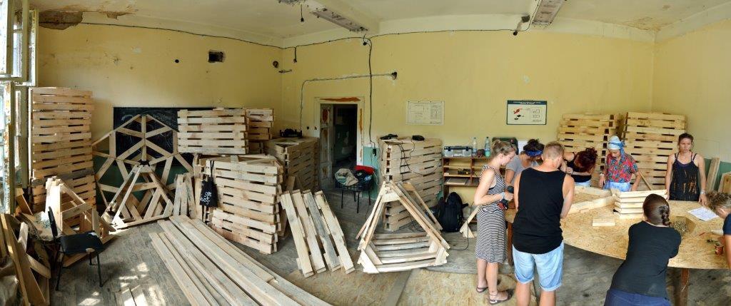 cupula geodesica madera
