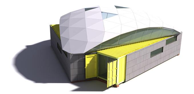construir contenedores barco arquitectura sostenible comunitaria
