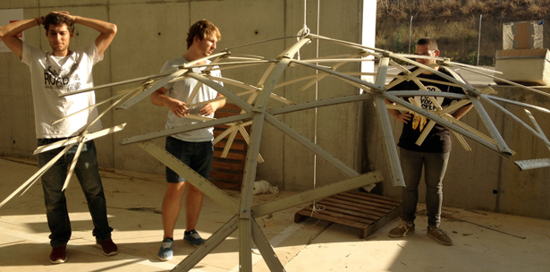 workshops self construction geodesic dome