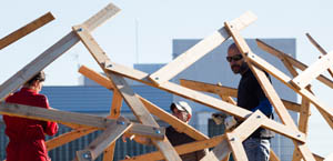 selfconstruccion pallet geodesic dome