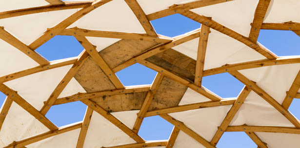 pallet geodesic dome leonardo da vinci