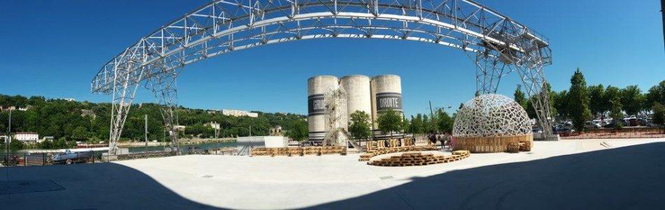 lowtech recycled participative collective communitarian architectures Biennale Architecture Lyon